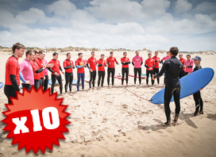 10 Group Surfing Lessons