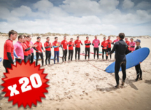 20 Group Surfing Lessons